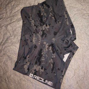 Small RedLine gray camo booty shorts
